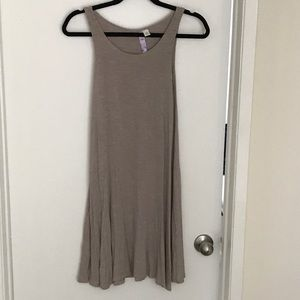 Francesca's Taupe Dress w/ Buttons Down Back